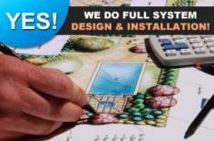 we can provide you with a full lawn sprinkler system design and installation