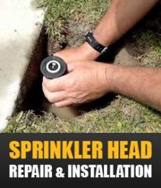 we provide professional sprinkler head repair and installation
